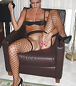 stockings pussy spread