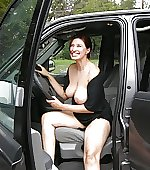 tits smiling candid