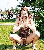 upskirt squat park