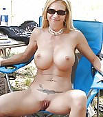 naked milf relaxing