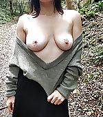 wearing tits skirt
