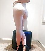 heels naked dancing