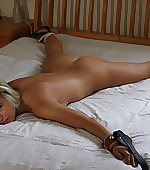 bed beauty blonde