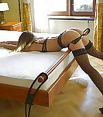bed heels over