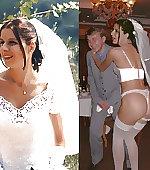 brunette exhibitionist bride