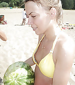 beach watermelon
