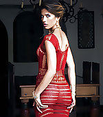 red awesome dress