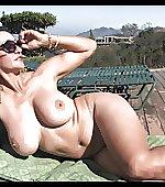 milf sunbathing