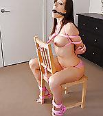 pink bound rope