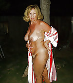 Naked blonde wife