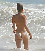 Wading in the waves