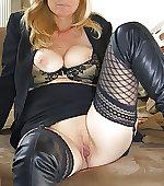Blonde wife posing