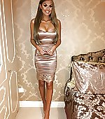 Tight satin dress