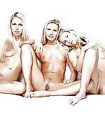 Three hot blondes