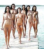 Six brunette