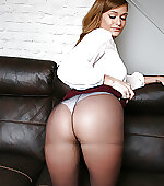 Pantyhose over her
