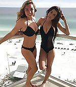 Bikini and swimsuit