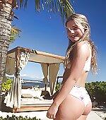 White cheeky bikini